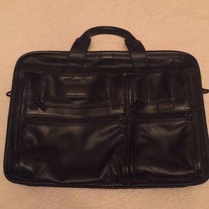Men's Leather Tumi laptop bag